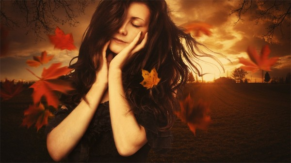 women autumn artistic orange leaves cgi 1920x1080 wallpaper_wallpaperswa.com_98