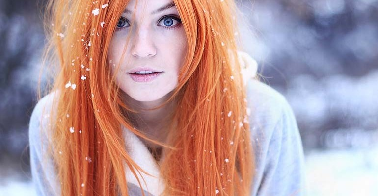 horoscope girl in snow